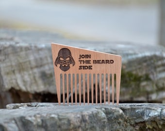 Join the beard Side Star Wars Wooden Comb Darth Vader Gift for Men Him Husband Boyfriend Beard Mustache Comb Birthday gift Holiday Сhristmas