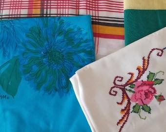 Fabric DeStash - Vintage Linens