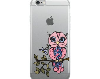 Owl Pink iPhone Case