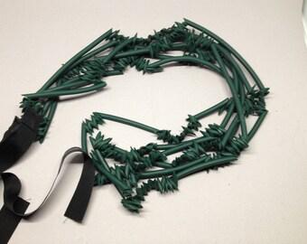 Avant Garde Runway Rubber Necklace