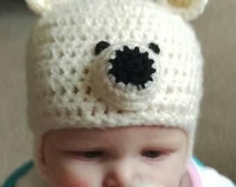 Gorgeous handmade Polar Bear Hat