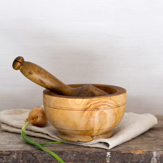 Wooden French Mortar & Pestle