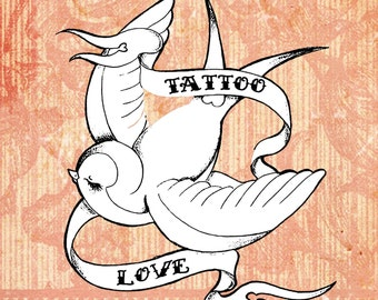 Tattoo Love Digital Stamp Set