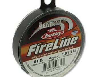 Fireline, 6 LB, 50 yard spool, Crystal