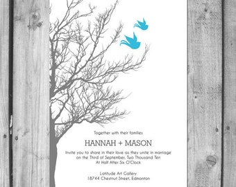Lovebirds Wedding Invitation Set