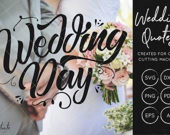 Wedding Day SVG