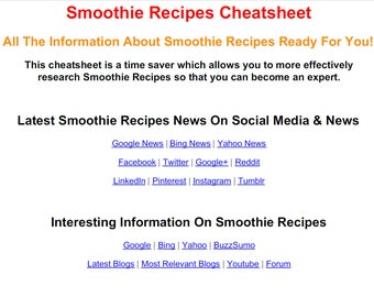 The raw food diet pdf cheat sheet the smoothie recipes pdf cheat sheet forumfinder Choice Image