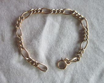 Nice Yellow Gold Filled Chain Link Charm Bracelet