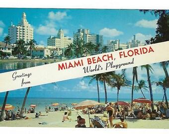 Miami Beach Florida, Vintage Postcard, Unused, Ephemera