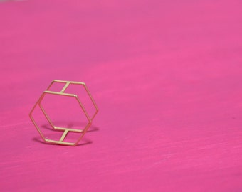 """The """"Roxanne"""" Double Band Geometric Stackable Ring"""