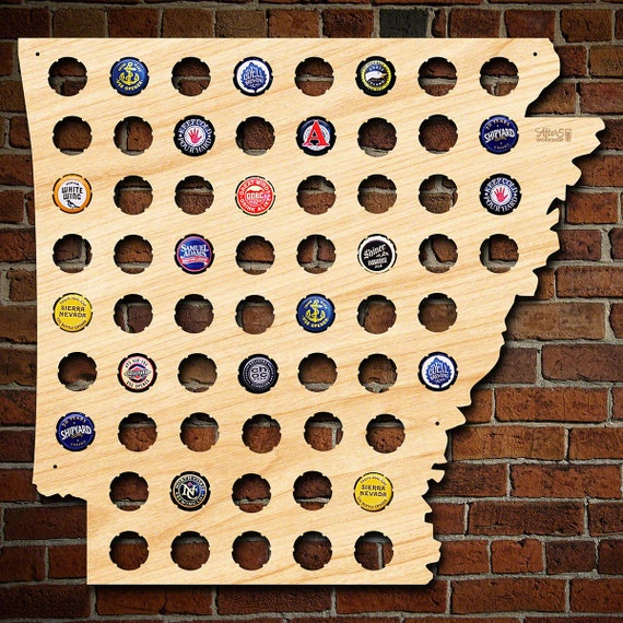 Arkansas Beer Cap Map Unique Beer Gifts for Men Cool Beer