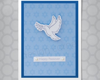 White Dove Dimensional Passover Card