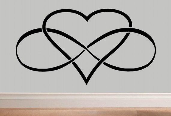 infinity heart infinity symbol wall decal wd love wall decal. Black Bedroom Furniture Sets. Home Design Ideas