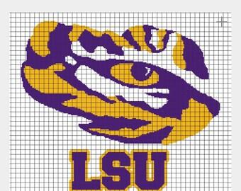 Custom LSU tiger eye throw