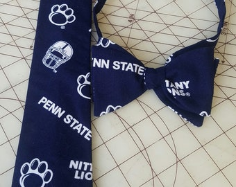 Penn State Neckties in Adult Standard Tie and Bow Tie