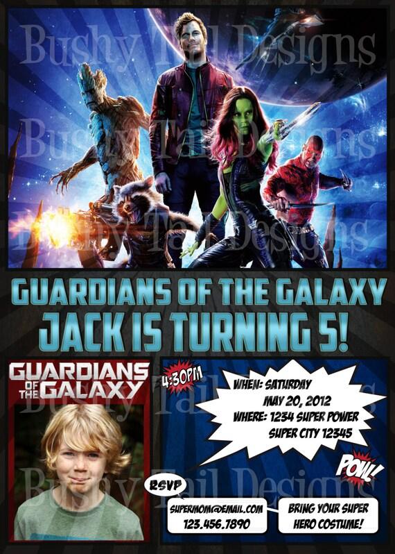 Guardians of the galaxy birthday invitation stopboris Images
