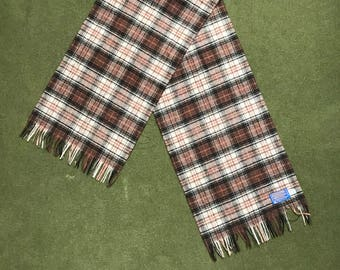 Vintage 70's Pendleton Scarf Brown Wool Made in USA