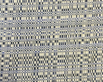 Navy - Blue White - Woven - Upholstery Fabric - Trekker - Blue Water