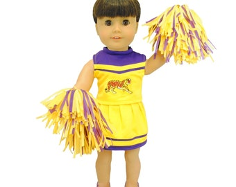 Cheerleader uniform outfit for 18 inch dolls