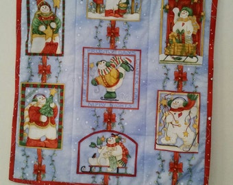 Snowman Frosty Days Wallhanging