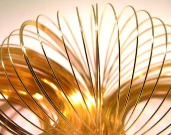 100 fil 0.6 mm -métal doré en 6.5 cm-bracelet à mémoire de forme- - AG