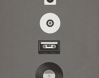 Evolution of Music (8x10, 11x17, or 13x19) Poster