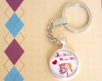 "Gift for nanny: ""Thank you nanny"" keychain"