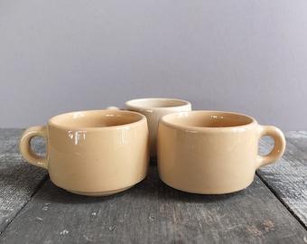 Set of 3 - Vintage Diner Ware Mugs / Diner Ware Coffee Cups
