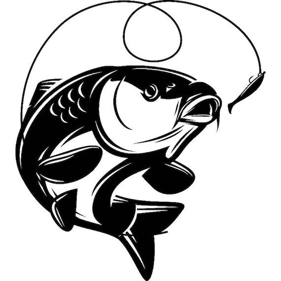 carp fishing 5 logo angling fish hook fresh water hunting rh etsy com carp logic mimic mixers carp logic mimic mixers