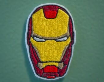 Iron Man Helmet - Embroidered Avengers Super Hero Patch