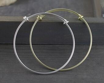 1pcs Expandable bangles,silver bangles,gold bracelet,60x57mm  bangles charm