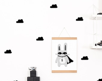 Wall decals / wall sticker 24 black clouds