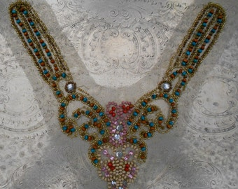 Multi Colored Wood Beaded Appliques