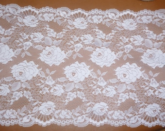 Slightly stretchy white lace