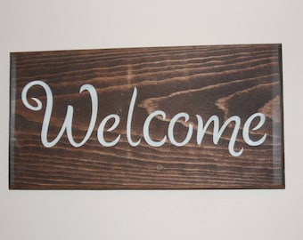 Welcome Wooden Wall Sign, Wall Decor, Hand Made Wooden Art  ELWW0023