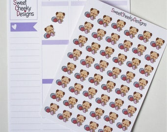 Kawaii Knitting Stickers!  Perfect for Erin Condren Life Planner, MAMBI/Happy Planner, Plum Planner, Etc.