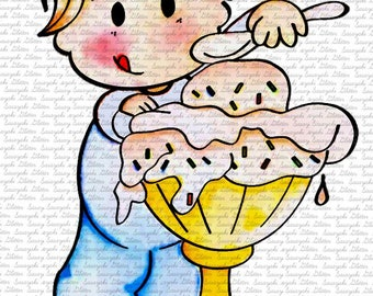 Shy's Icecream Digital Stamp By Sasayaki Glitter