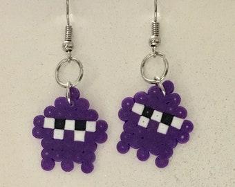 Splatoon Squid Perler Earrings