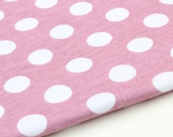 Cotton Jersey Knit Fabric Polka Dot By The Yard