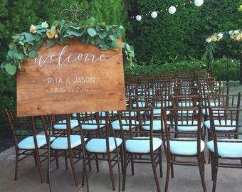 Wedding Welcome Sign | Wood Signage
