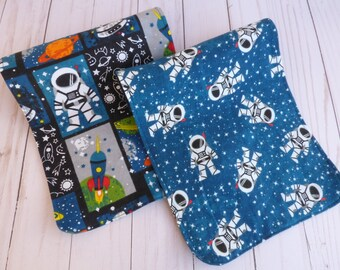 Outer Space Baby Shower Gift, Baby Burp Cloth, Space Baby Nursery, Rocket Ship,  Flannel, Baby Astronaut Shower, Rocket Baby Gift, Baby Boy