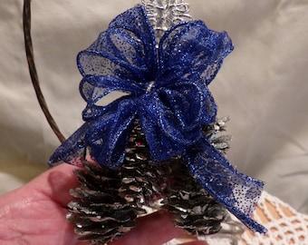 Rustic Ornament, Original Handmade Pine cone  Ornaments,One of a kind ornament, Morethebuckles, Christmas Decoration, Christmas Decor