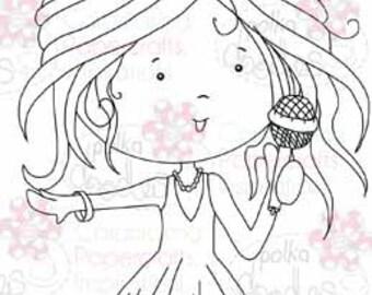 Singing Sally Digital Stamp - by Nikky Hall
