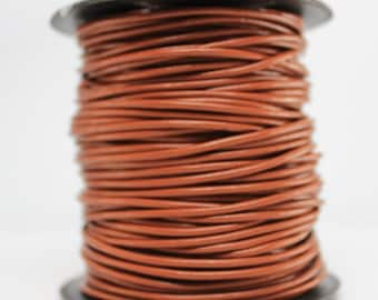 1 Meter of 2MM Light Brown Leather Cord (1 yard) (1m)