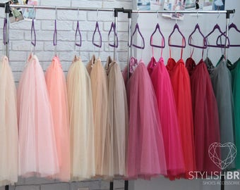 Tulle Skirt 150 Colors Women's Casual, Fay Tulle Skirt Bridal, Women Tulle Skirt, Pink Nude Red Grey Fuchsia Wedding Blush Tulle Skirt