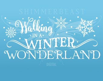 Christmas SVG Cut File | Walking in a Winter Winderland svg | Winter Wonderland svg | Christmas SVG design | Christmas SVG sayings
