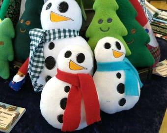 Happy Snowman Snow People Plush