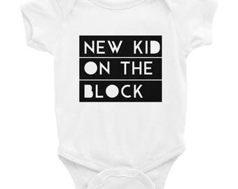 New Kid On The Block One Piece Cool Infant Bodysuit