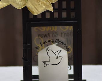 Bereavement gift, Memory Lantern, sympathy gift  In Loving Memory, In Memory of gift, Never forget, In Memoriam,