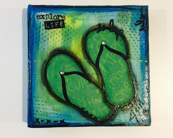 Mixed Media Painting - Explore Life